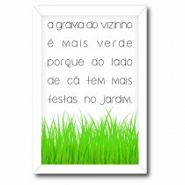Imagem - Quadro Decorativo - A Grama do Vizinho - Ps133