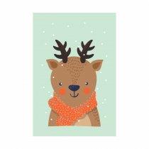 Imagem - Placa Decorativa - Alce no Inverno - Ps330