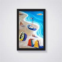 Imagem - Quadro Decorativo Barcos na Praia - Ps209 - Ps209