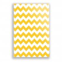 Imagem - Quadro Decorativo Chevron Amarelo Ps238 - Ps238
