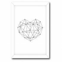 Imagem - Quadro Decorativo Coração Geométrico - Ps190