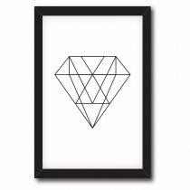 Imagem - Quadro Decorativo Diamante Geométrico - Ps191