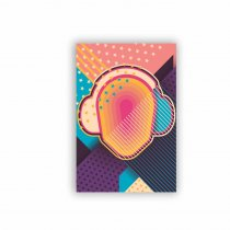 Imagem - Placa Decorativa - Fones de Ouvido Abstrato - Ps280