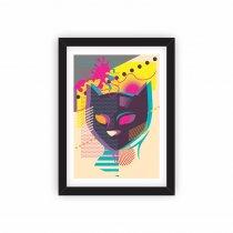 Imagem - Quadro Decorativo - Gato Abstrato  - Ps278 - Ps278
