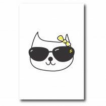 Imagem - Quadro Decorativo Gato de Óculos - Ps220 - Ps220