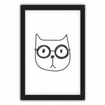 Imagem - Quadro Decorativo Gato de óculos - Ps223 - Ps223