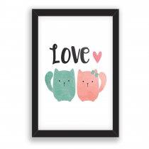 Imagem - Quadro Decorativo Love Cat - Ps225 - Ps225