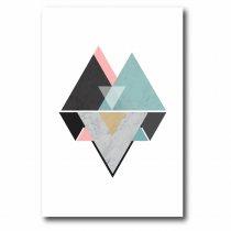 Imagem - Quadro Decorativo Triângulos - Ps192