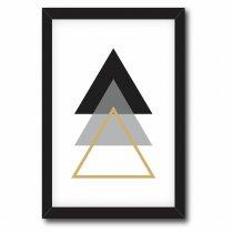 Imagem - Quadro Decorativo Triângulos Preto e Cinza - Ps193