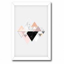 Imagem - Quadro Decorativo Triângulos rosa e preto - Ps194