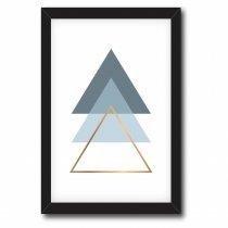 Imagem - Quadro Decorativo Triângulos tons de Azul - Ps197