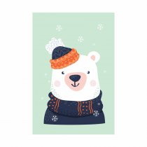 Imagem - Placa Decorativa - Urso no Inverno - Ps329