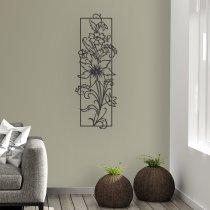 Imagem - Quadro vazado decorativo Flores em MDF - Preto - CD010 - CD010