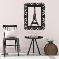 Imagem - Aplique em MDF Torre Eiffel - Preto - QD003 - QD003