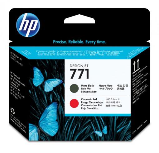 Cabeça de Impressão HP 771 Preto Fosco e Vermelho Cromatico CE017A