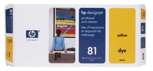 Cabeça de Impressão HP 81 Amarelo C4953A