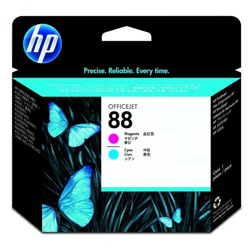 Cabeça de Impressão HP 88 Magenta e Ciano C9382A