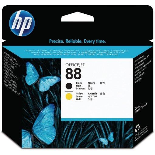 Cabeça de Impressão HP 88 Preto e Amarelo C9381A