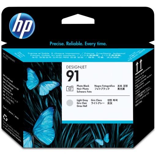 Cabeça de Impressão HP 91 Preto Fotográfico e Cinza Claro C9463A