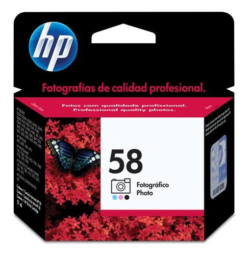 Cartucho HP 58 Colorido 17ml C6658AL