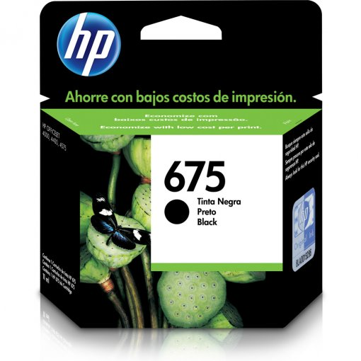 Cartucho HP 675 Preto 11ml CN690AL