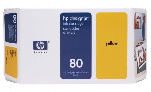 Cartucho HP 80 Amarelo 350ml C4848A