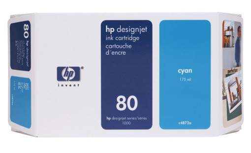 Cartucho HP 80 Ciano 175 ml C4872A