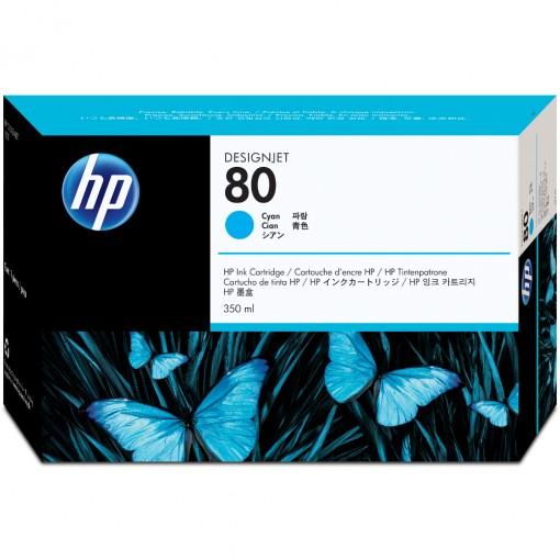 Cartucho HP 80 Ciano 350 ml C4846A