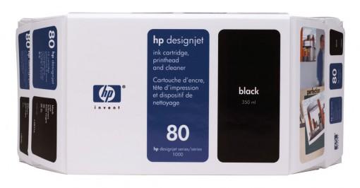 Cartucho HP 80 Preto 350 ml C4871A