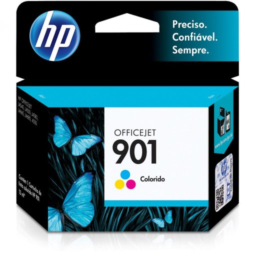 Cartucho HP 901 Colorido 9ml CC656AB