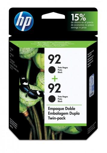Cartucho HP 92 Preto 11ml  Embalagem Dupla C9512FL - 2x C9362WB