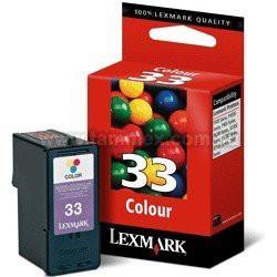Cartucho Lexmark 33 Colorido 9 ml 18C0033