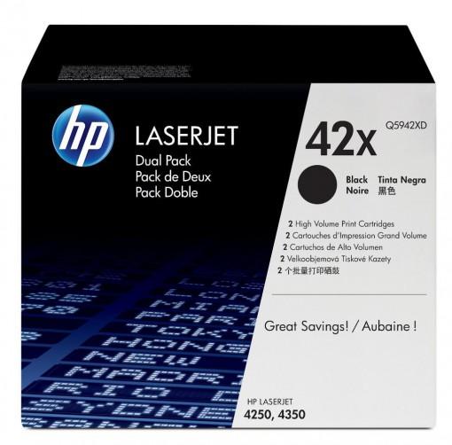 Toner HP 42X Preto Q5942XD Embalagem Dupla (2 x Q5942X)