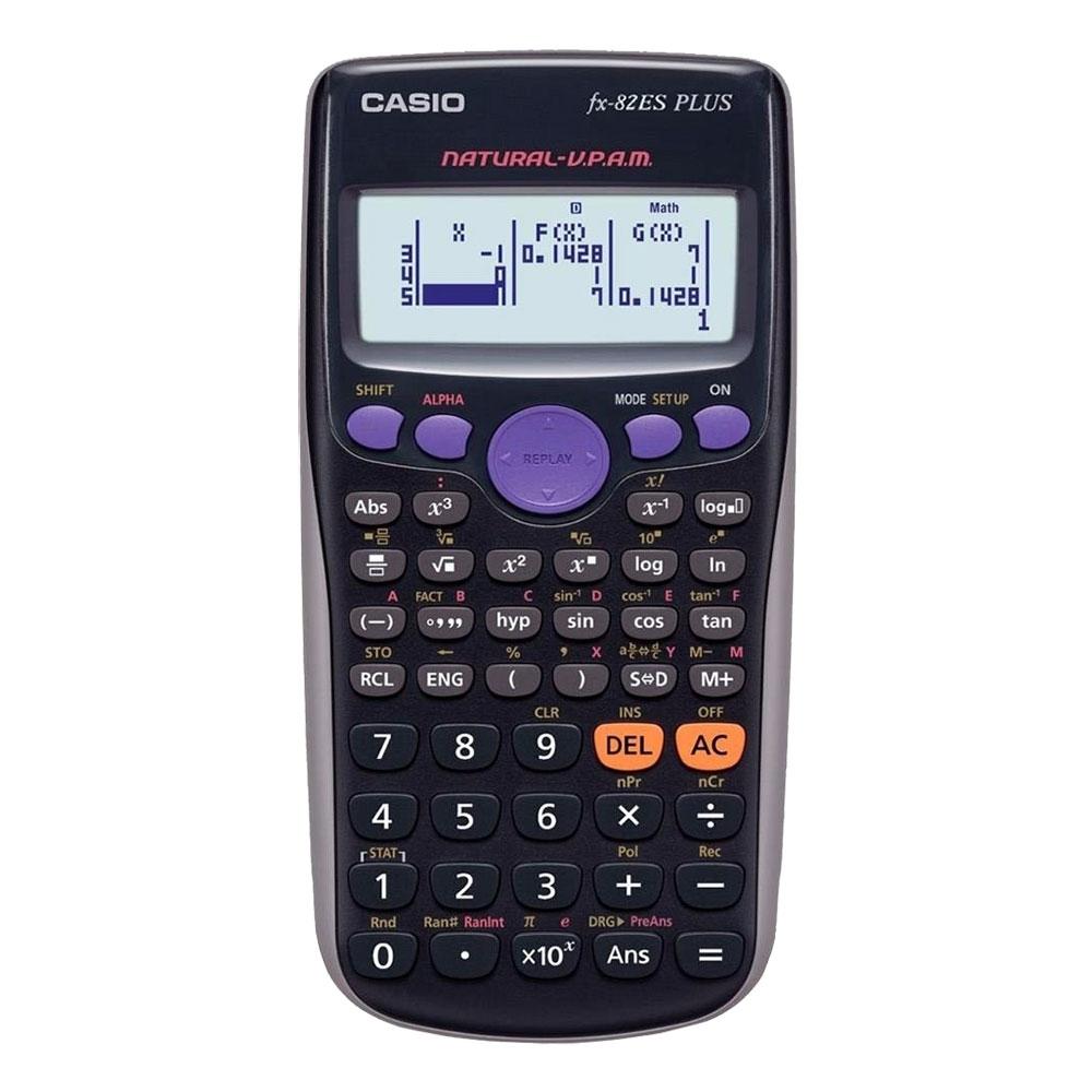 Calculadora Científica Casio com 252 funções, Visor 4 Linhas - FX-82ESPLUS
