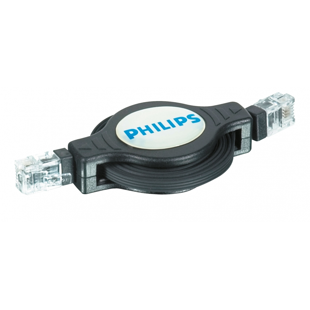 Cabo retrátil modular para modem e telefone  - Philips