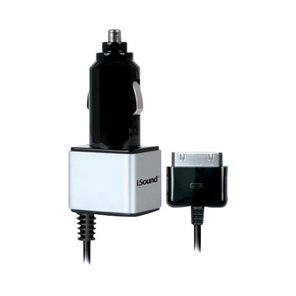 Carregador veicular com cabo para carga de iPad, iPhone ou iPod - ISOUND