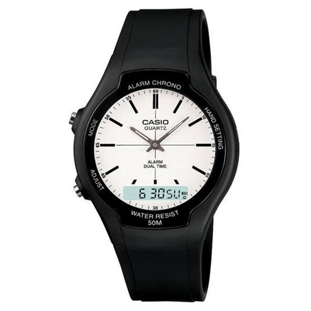 Relógio Masculino Anadigi Casio AW-90H-7EVDF - Preto