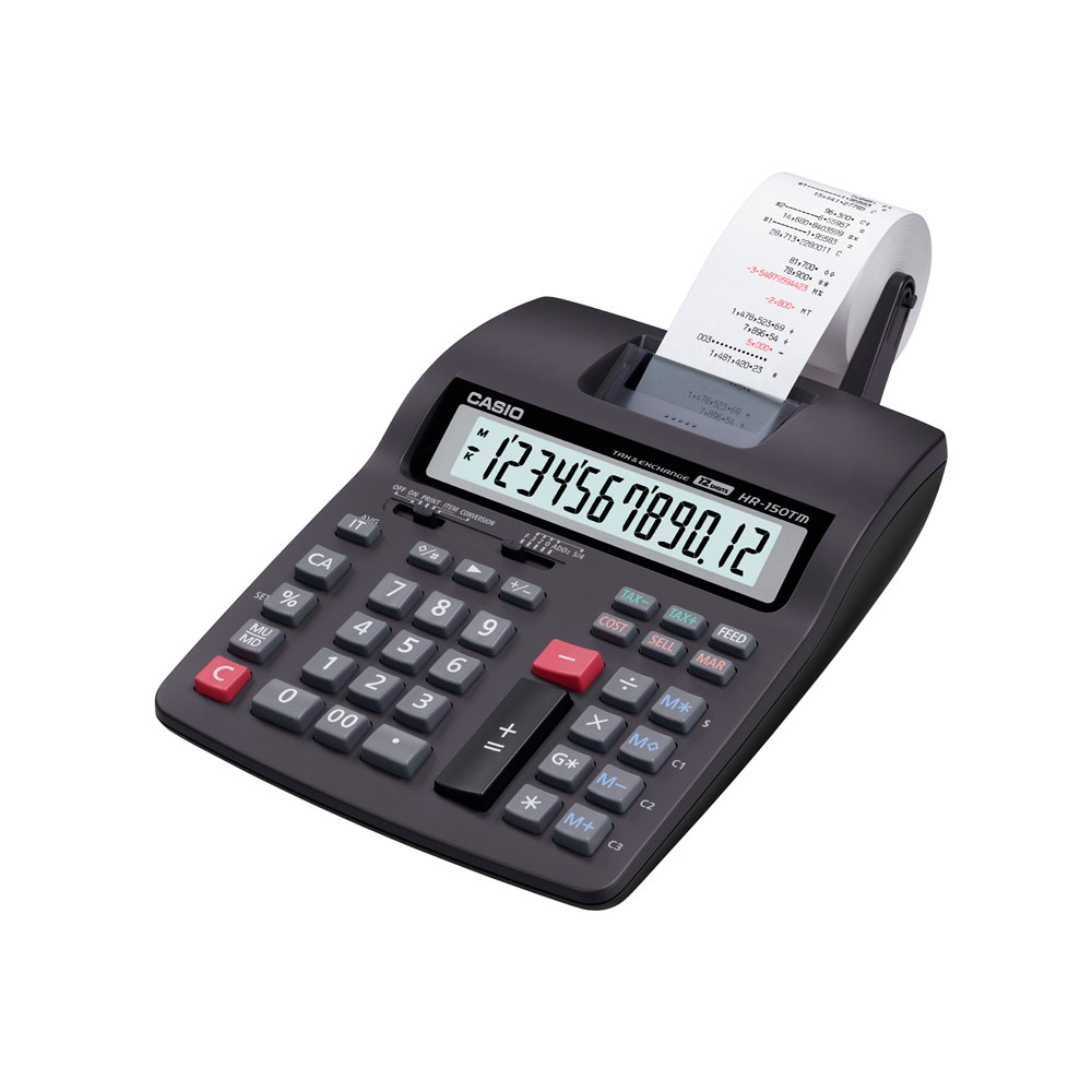 Calculadora Casio c/ impressora, 12 dígitos HR-150TM  - CASIO