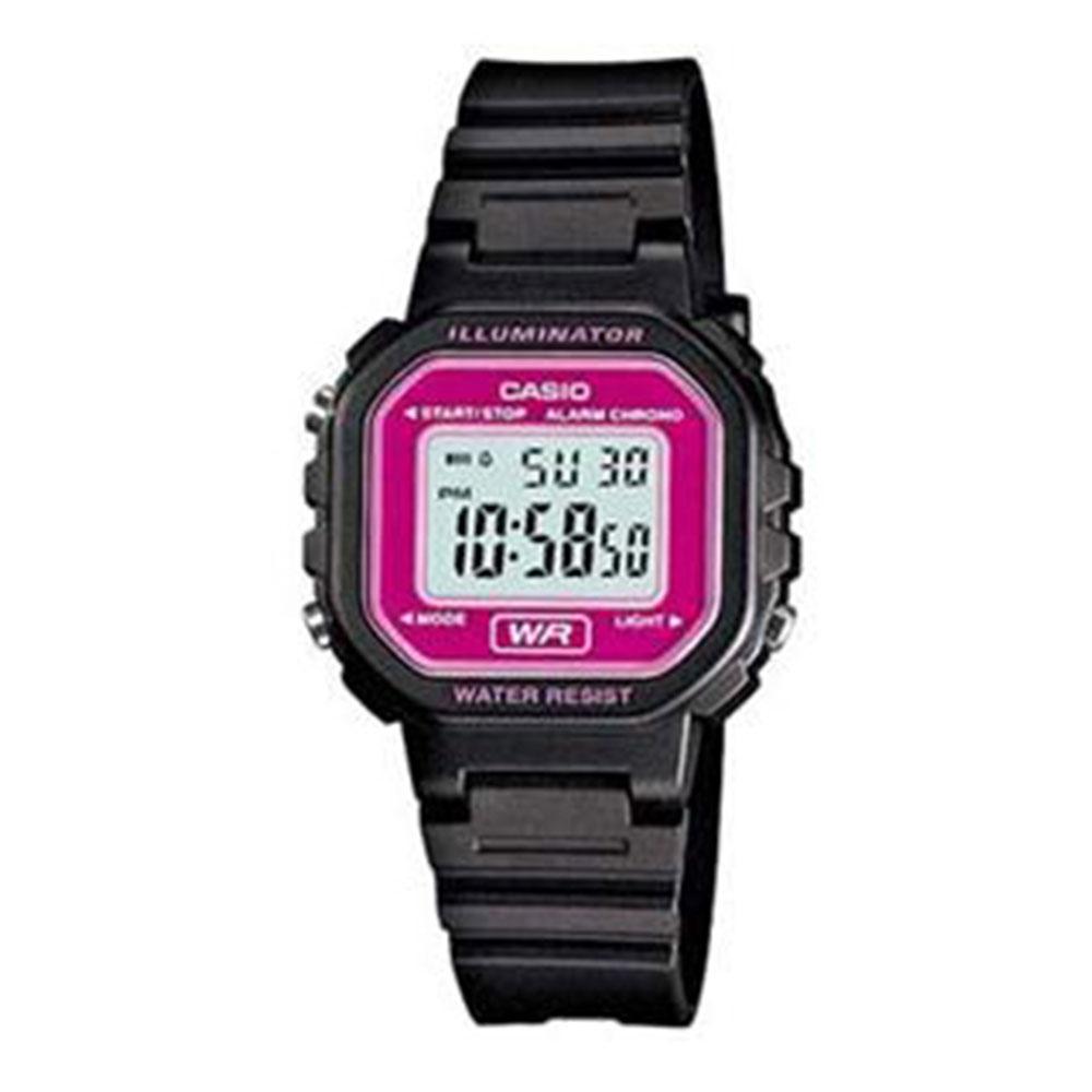 Relógio Feminino Digital Casio LA-20WH-4ADF - Preto/Lilás
