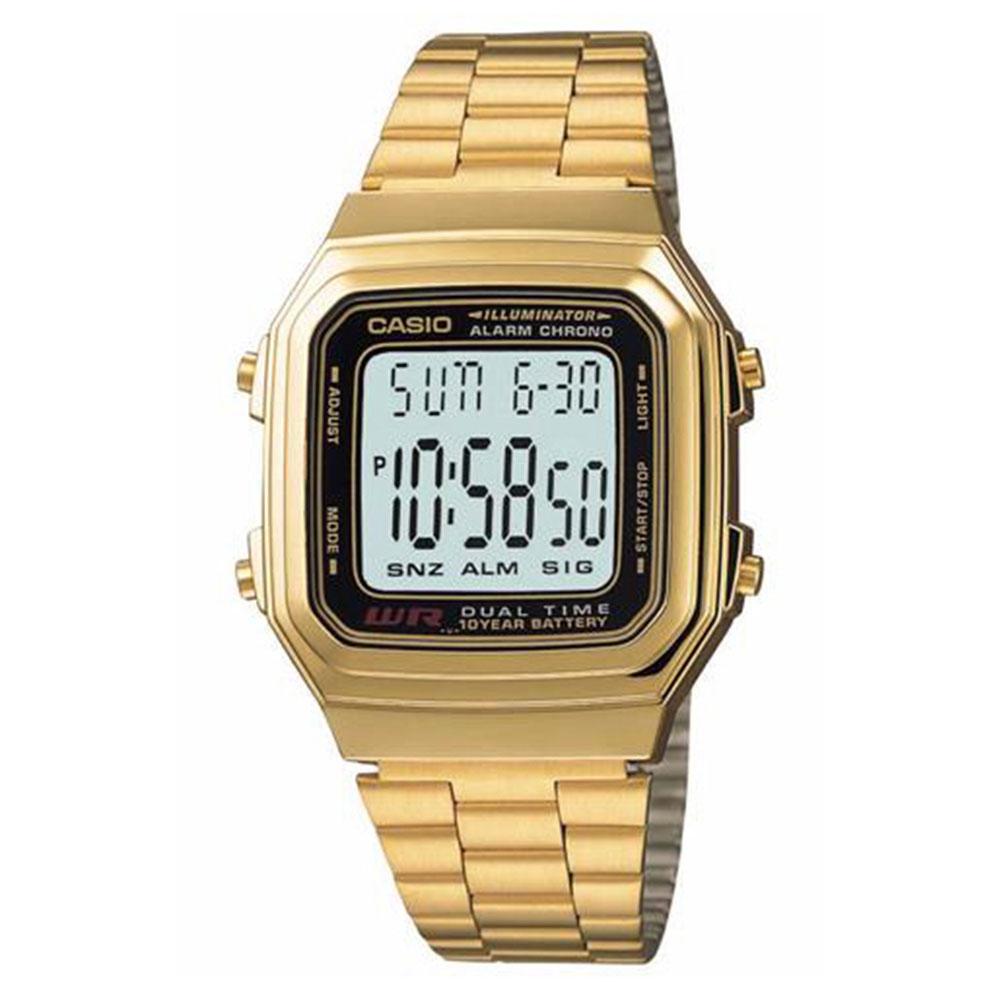 Relógio Feminino Digital Casio A178WGA-1ADF - Dourado