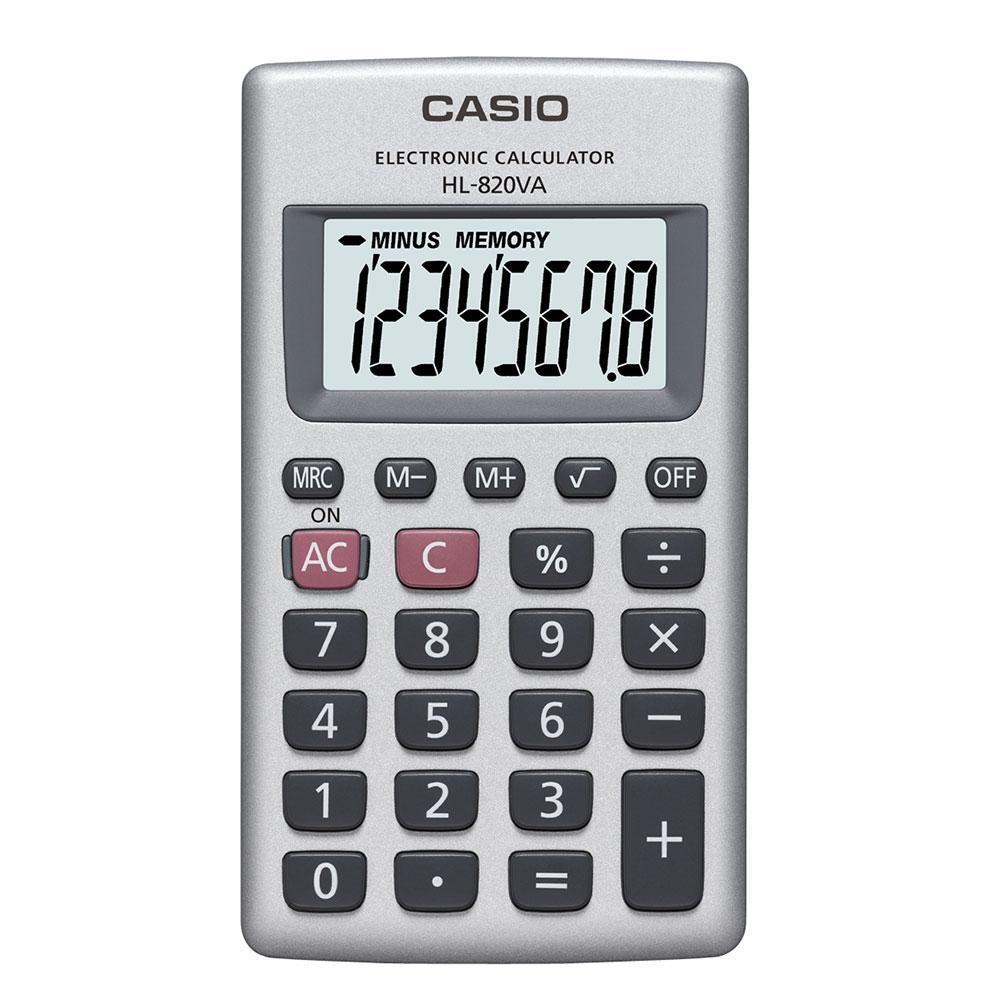 Calculadora Casio de bolso vertical, visor 8 dígitos HL-820VA - CASIO