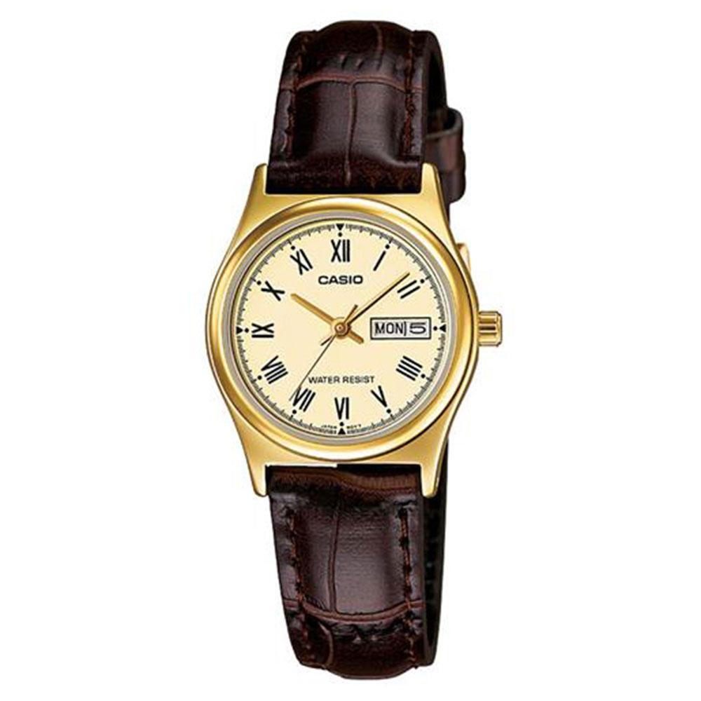 Relógio Feminino Analógico Casio LTP-V006GL-9BUDF - Marrom