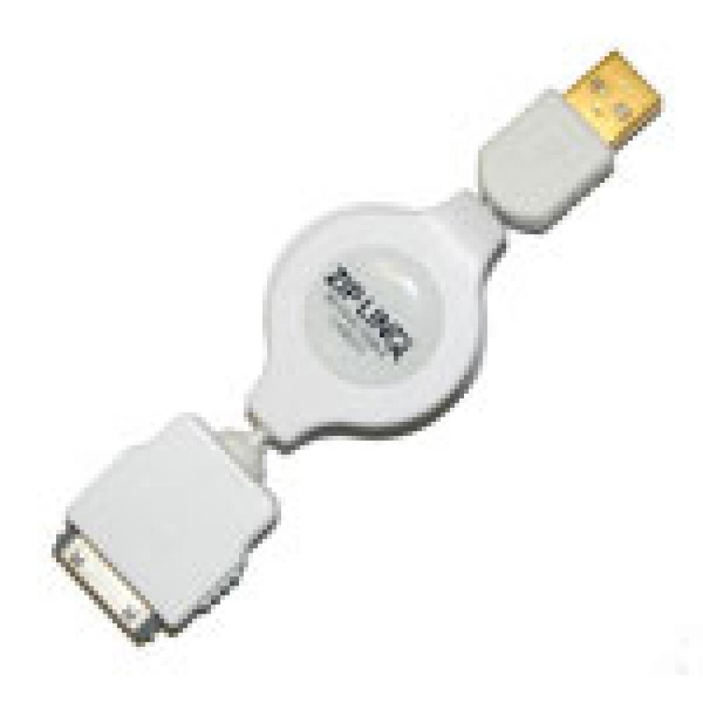 Cabo retrátil de sincronismo e carga para  iPod  - ZIPLINQ