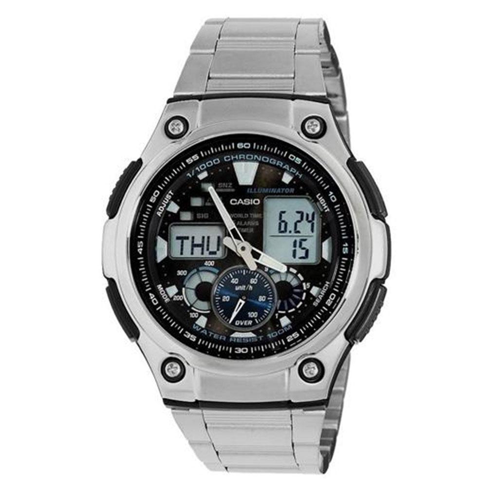 Relógio Masculino Anadigi Casio AQ-190WD-1AV - Prata