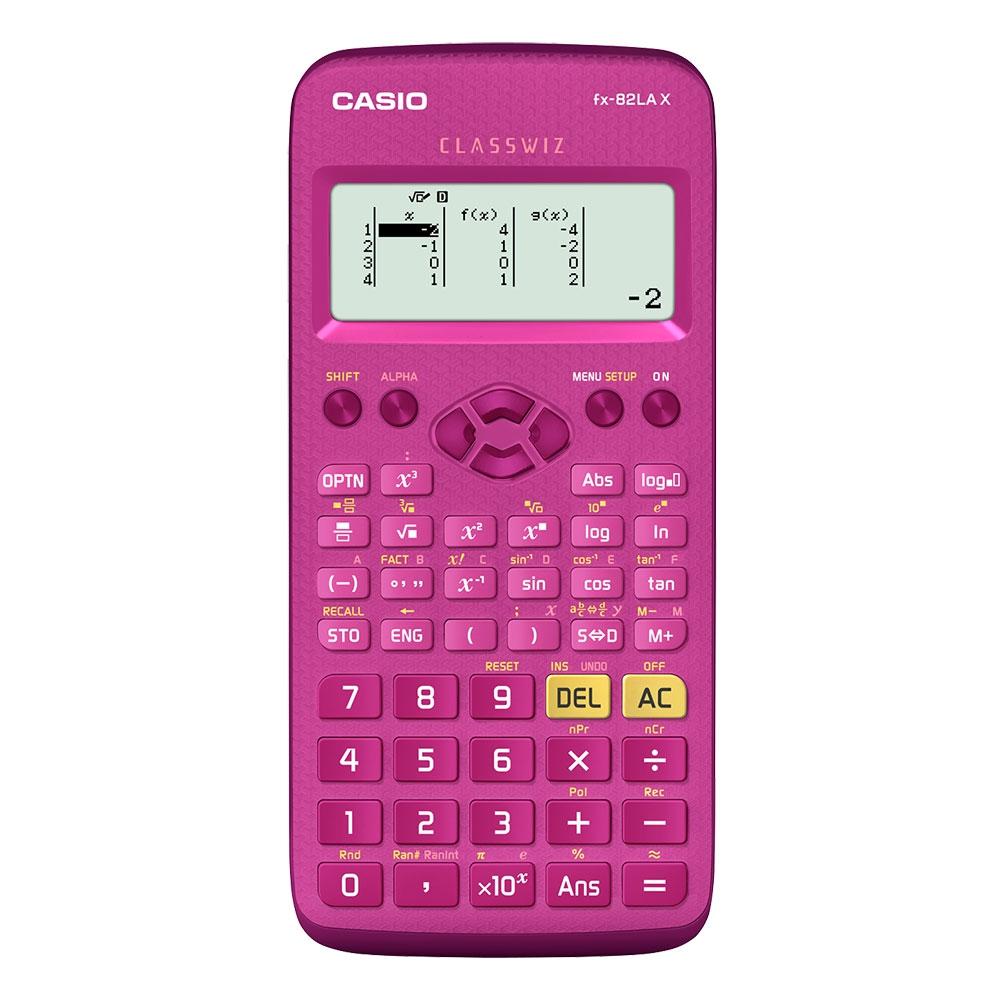 Calculadora Científica Casio Classwiz Pink, com 274 funções - FX-82LAX-PK