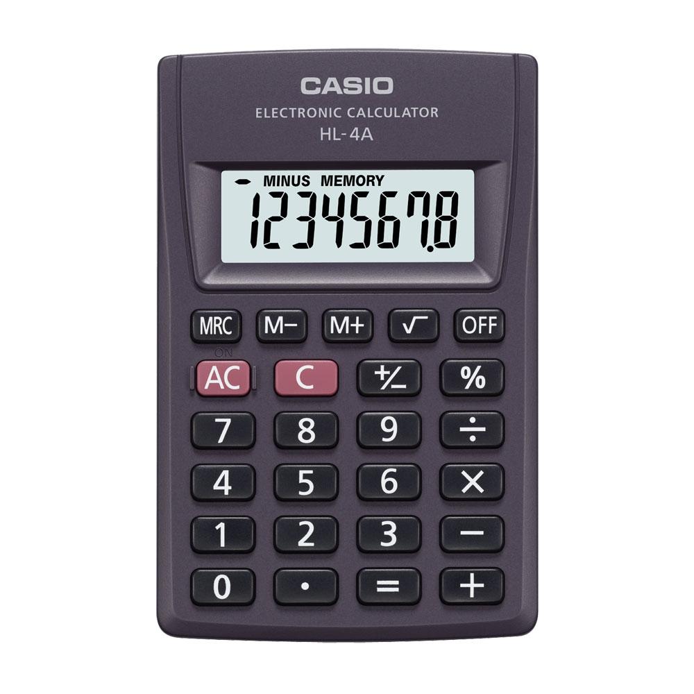 Calculadora Casio de bolso 8 dígitos e desligamento automático HL-4A - CASIO