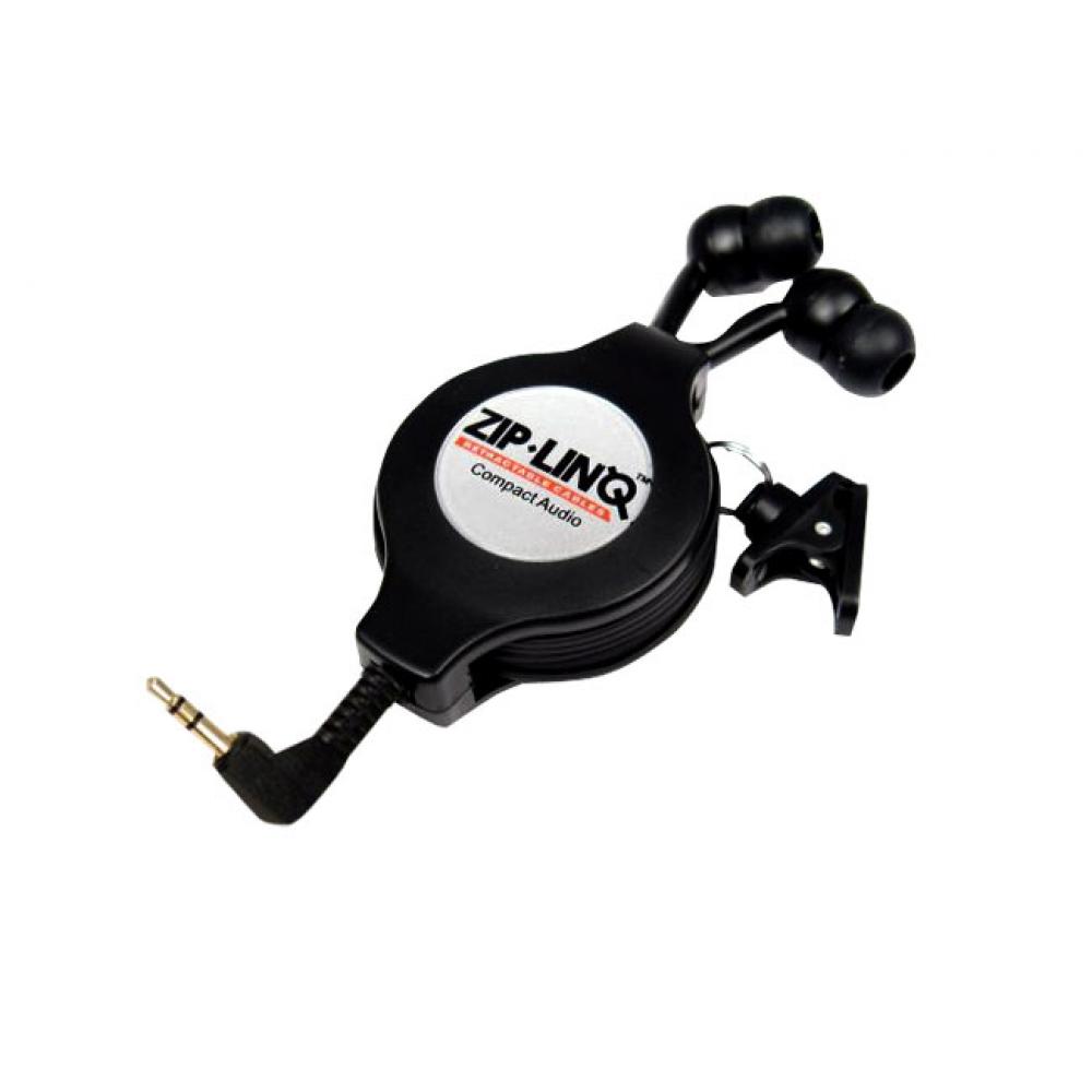 Fone de ouvido estéreo com cabo retrátil (Plug 2,5 mm) - ZIPLINQ