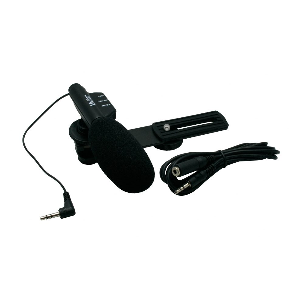 Microfone Mini Zoom para filmadora - VIVITAR