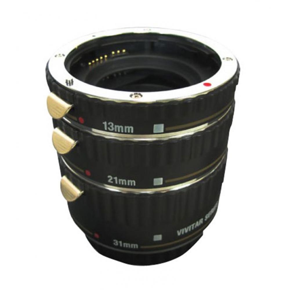 Três tubos de extensão para câmera DSLR Canon - VIVITAR