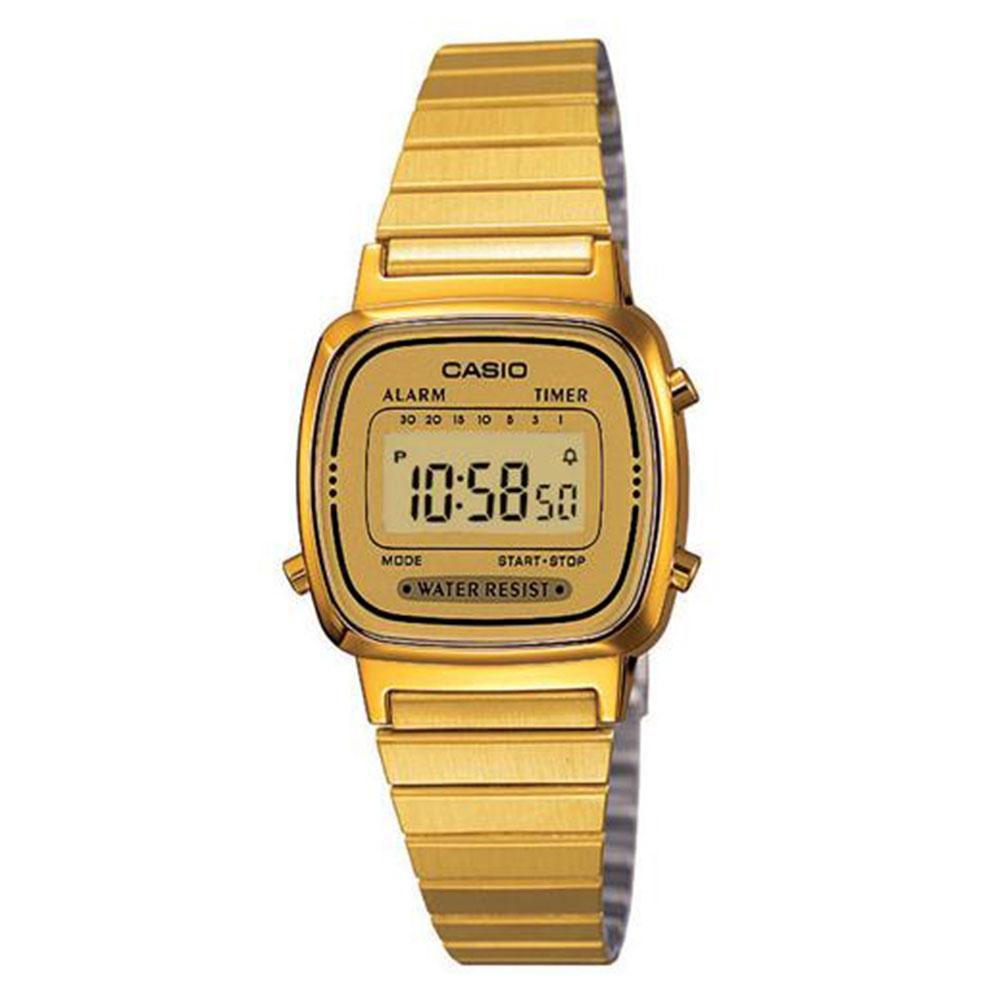 Relógio Feminino Digital Casio LA670WGA9DF - Dourado